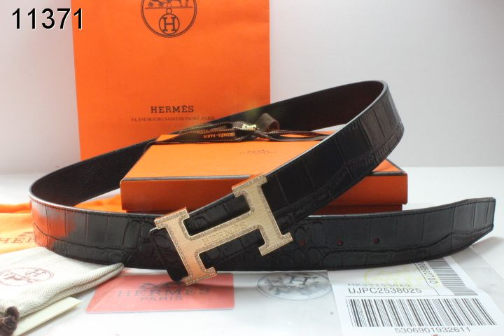 New Belt with Golden H Buckle Mens Black Hermes Outlet